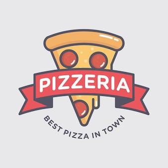 Pizza logo ontwerp