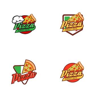Pizza logo ontwerpsjabloon