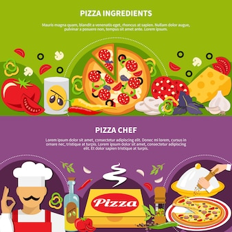 Pizza master banners-collectie