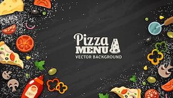 Pizza Menu Chalkboard Achtergrond