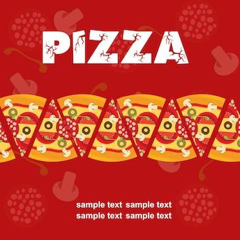 Pizza menusjabloon, vectorillustratie