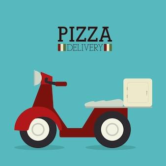Pizza ontwerp, vectorillustratie.