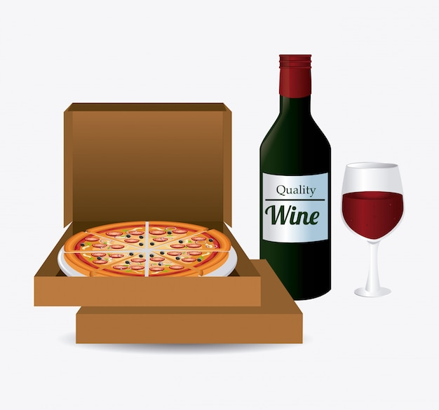 Pizza ontwerp.