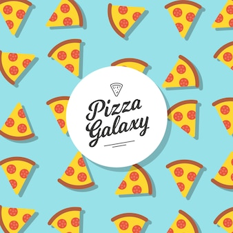 Pizza patroon achtergrond