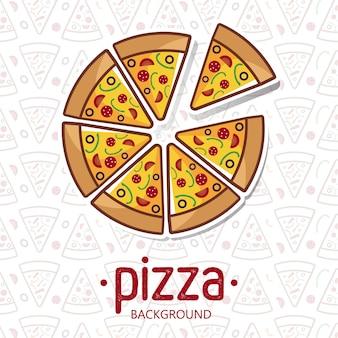 Pizza patroon vectorillustratie