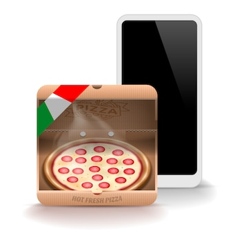 Pizza pictogram voor mobiele applicatie