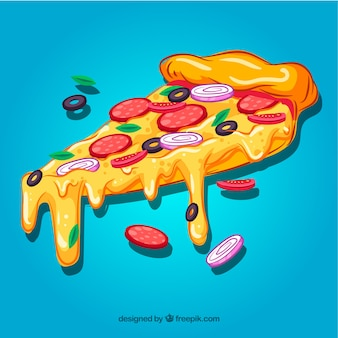 Pizza plak achtergrond