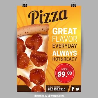 Pizza plakjes flyer