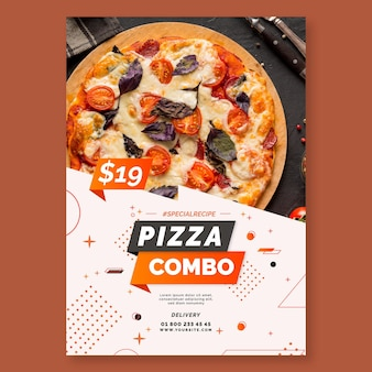 Pizza poster sjabloon