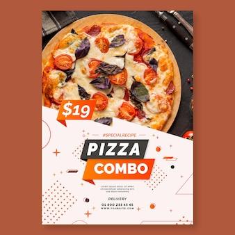 Pizza poster sjabloon Premium Vector