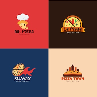 Pizza restaurant logo collectie