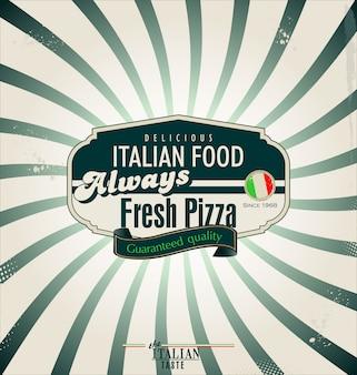 Pizza retro achtergrond