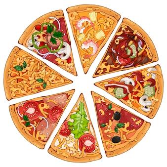 Pizza schuift