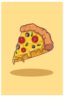 Pizza slice illustratie