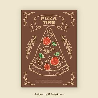 Pizza tijd achtergrond