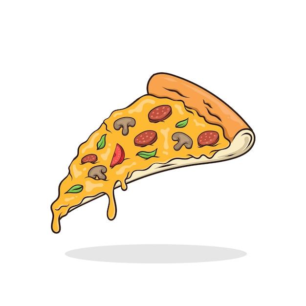 Pizza vector geïsoleerd fastfood