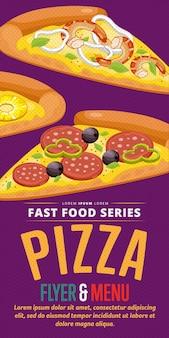 Pizza verkoop flyer.