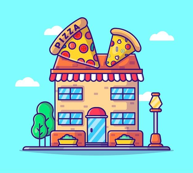 Pizza winkel tekenfilm