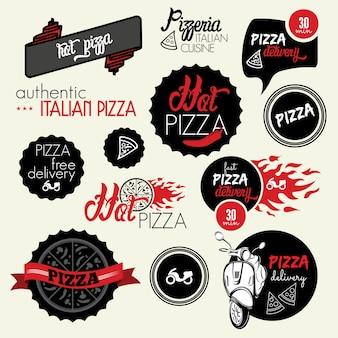 Pizzabezorglabel