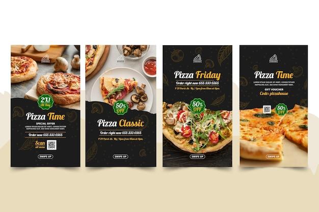 Pizzarestaurant instagram-verhalen