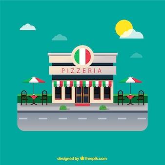 Pizzeria achtergrond ontwerp