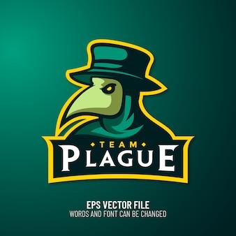 Plaag dokter mascotte esport logo premium