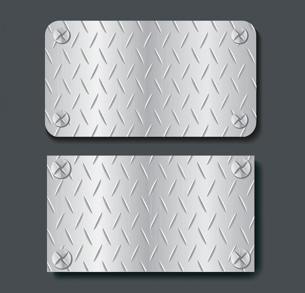 Plaat metalen banner set