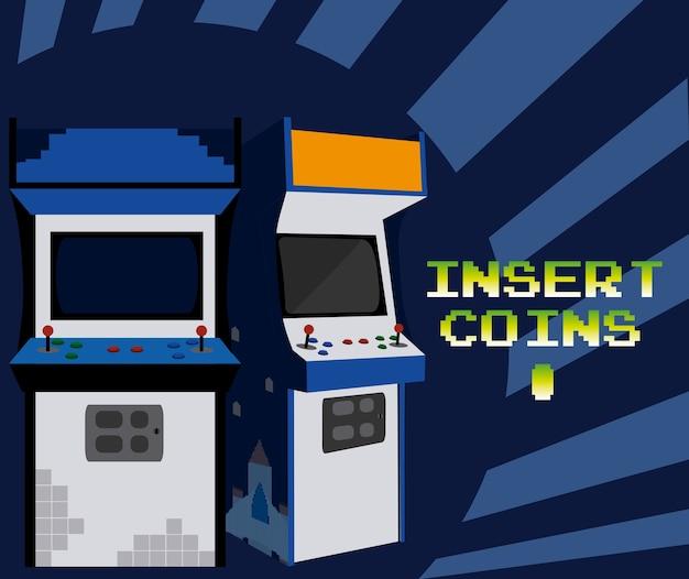 Plaats munten om arcade te spelen