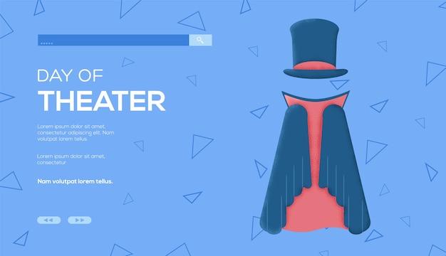 Plaats voor tekst, plaats om te kopiëren. pak van de wizard-conceptvlieger, webbanner, ui-koptekst, site invoeren. lay-out illustratie moderne schuifregelaar pagina.
