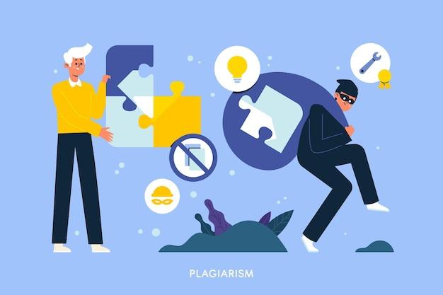 Plagiaat copyright illustratie