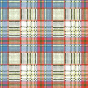 Plaid stof textuur vierkante pixels shirt naadloze patroon