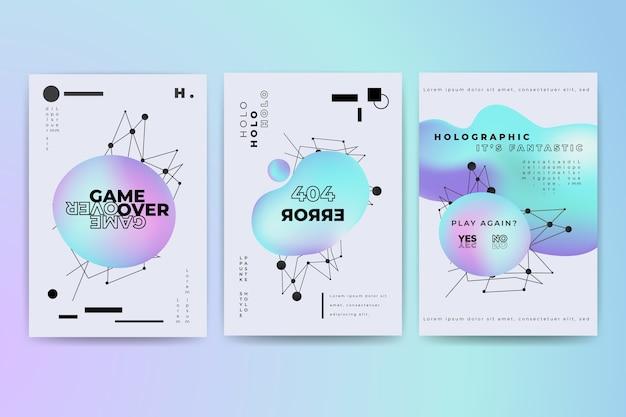 Plak kleurrijke omslagcollectie