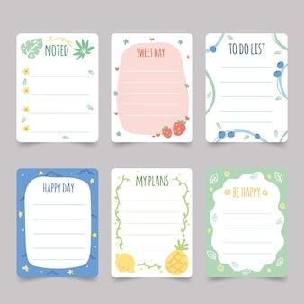 Plakboeknotities en kaarten instellen