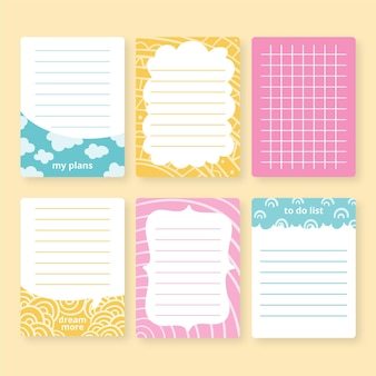 Plakboeknotities en -kaarten