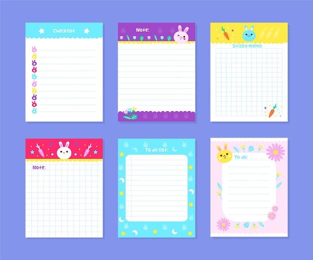 Plakboeknotities en kaarten
