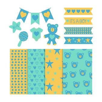 Plakboekpakket voor babydouche