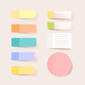 Plakboekpapieren. blanco kladblok-pagina's met tape