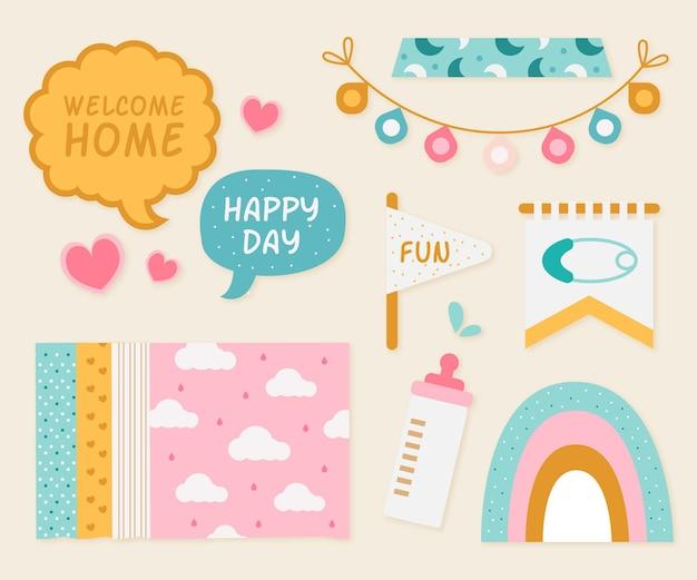 Plakboekset voor babydouche