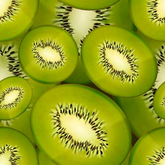 Plakken van heldere sappige kiwi, naadloos patroon