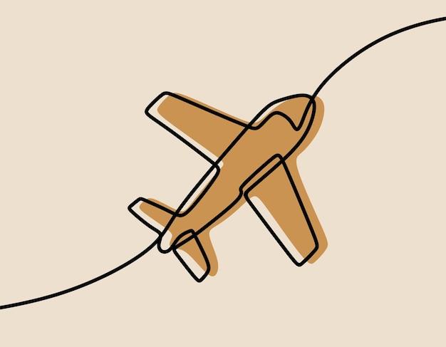 Plane oneline ononderbroken lijntekeningen