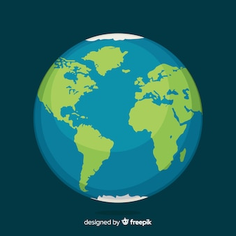 Planeet aarde ontwerp