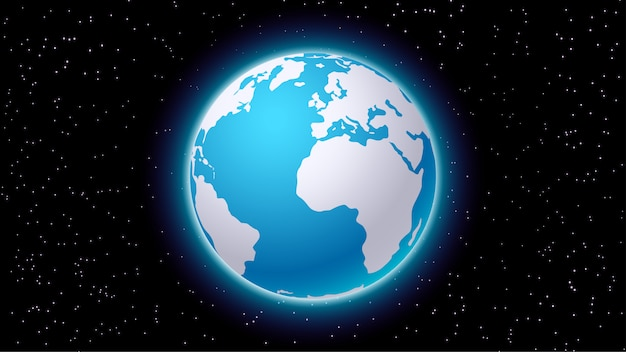 Planeet aarde sillhouette