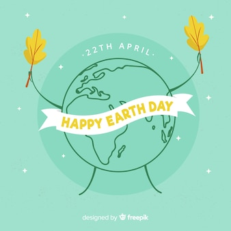 Planeet die bladeren moeder aarde dag achtergrond