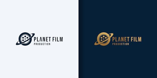 Planeet film logo ontwerp