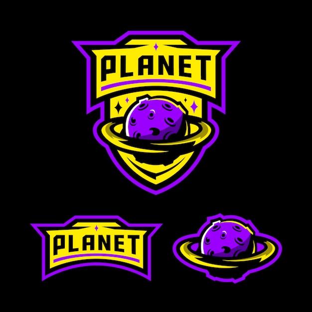 Planeet mascotte logo sjabloon