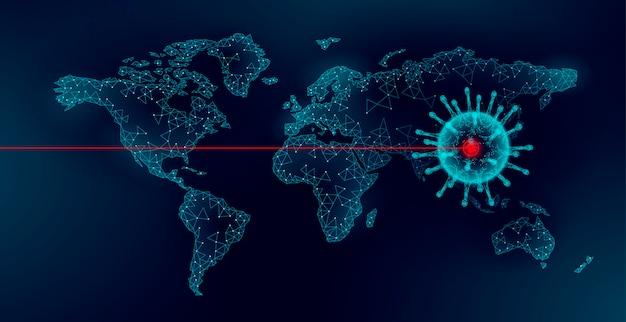 Planet earth wereldkaart pandemie china