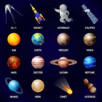 Planeten pictogramserie