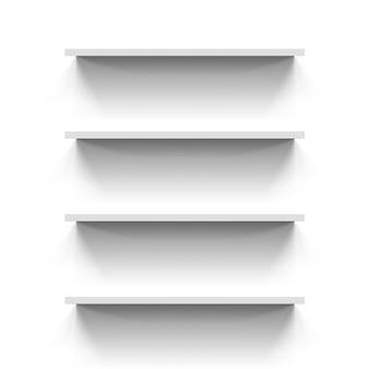 Planken op wit
