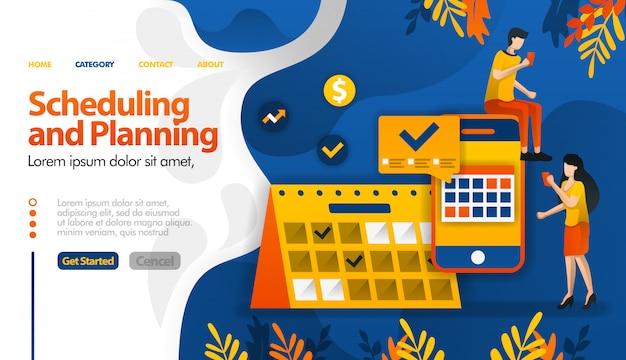 Plannen en plannen van apps, plannen van uitstapjes, bepalen van vergaderingen en activiteiten