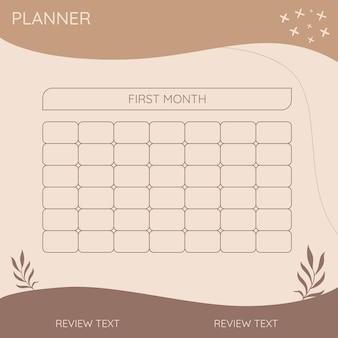 Planner minimaal